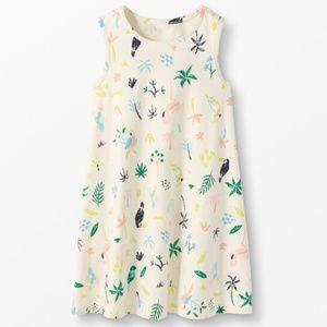 NWT Hanna Andersson Tropical Ecru Swing Dress